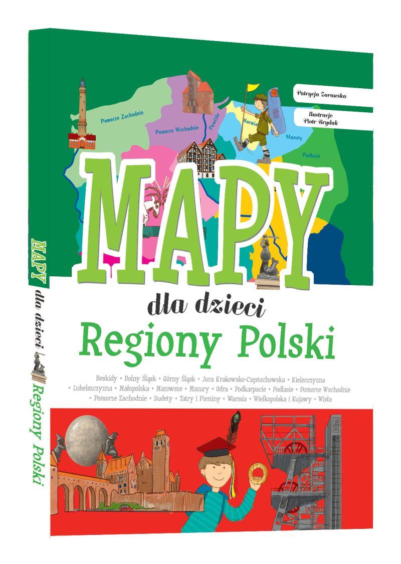 Regiony Polski. Mapy dla dzieci.