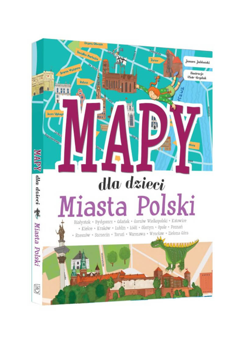Miasta Polski. Mapy dla dzieci