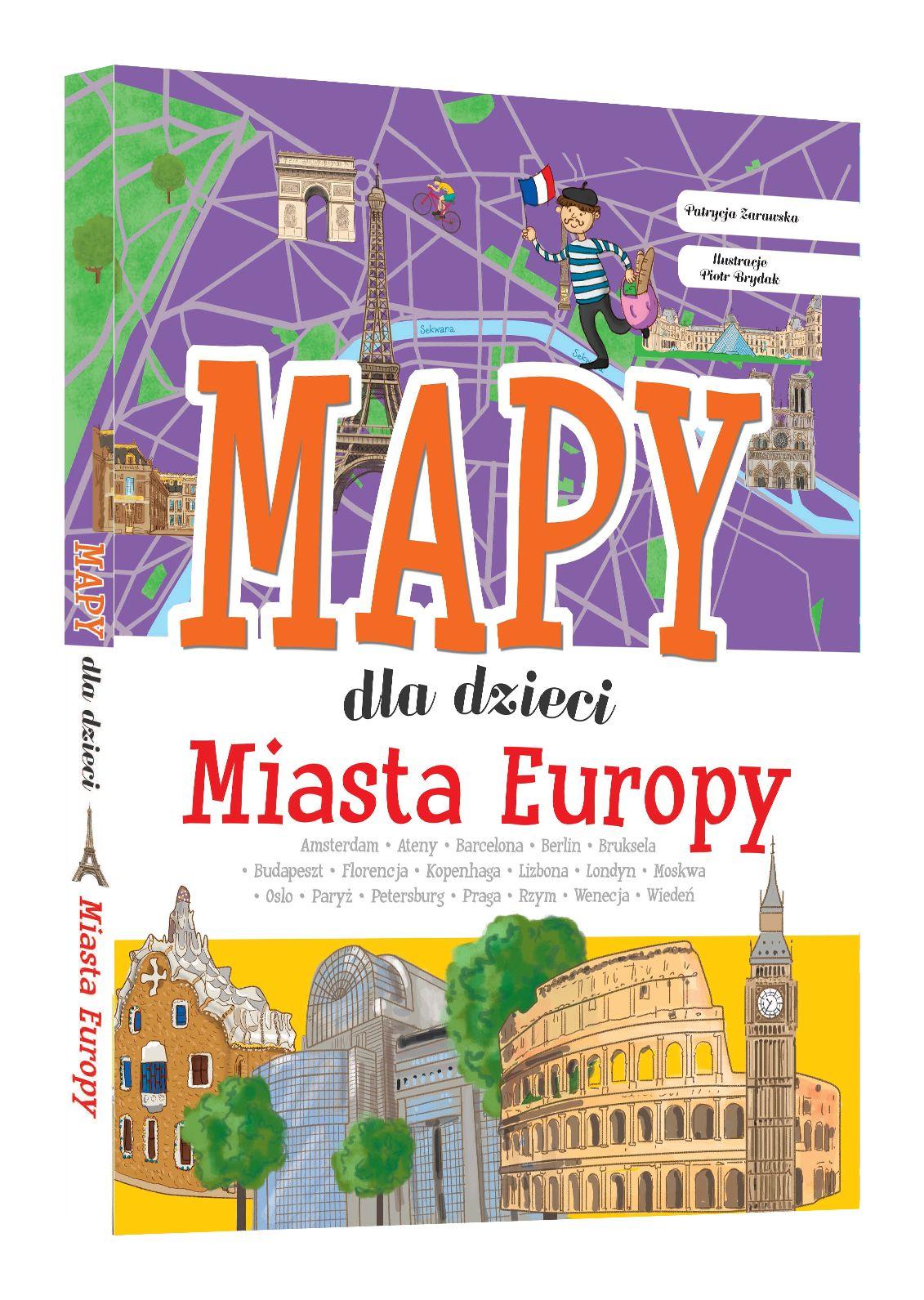 Miasta  Europy. Mapy dla dzieci.